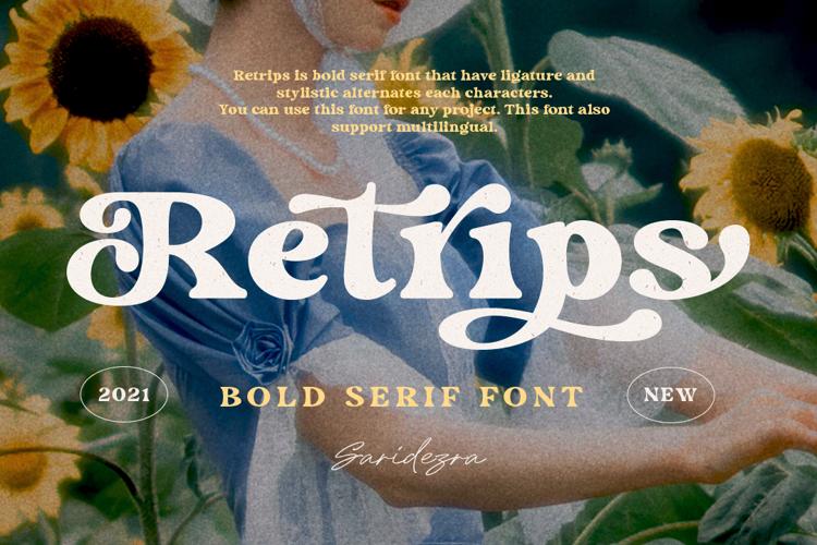 Retrips Font
