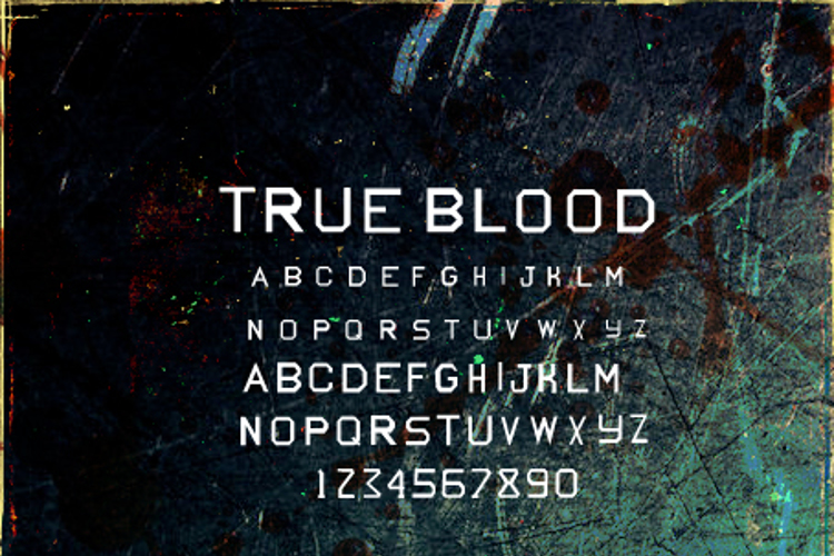 True Blood Font