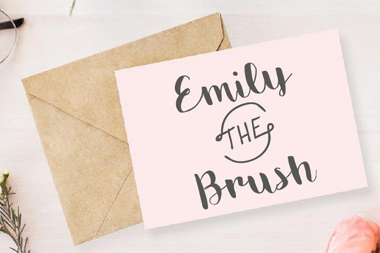 Emily The Brush Demo Font