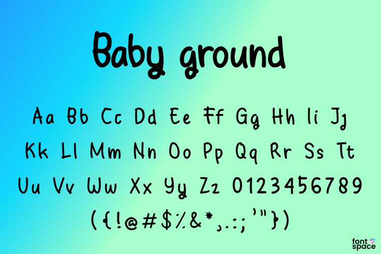 Baby Ground Font