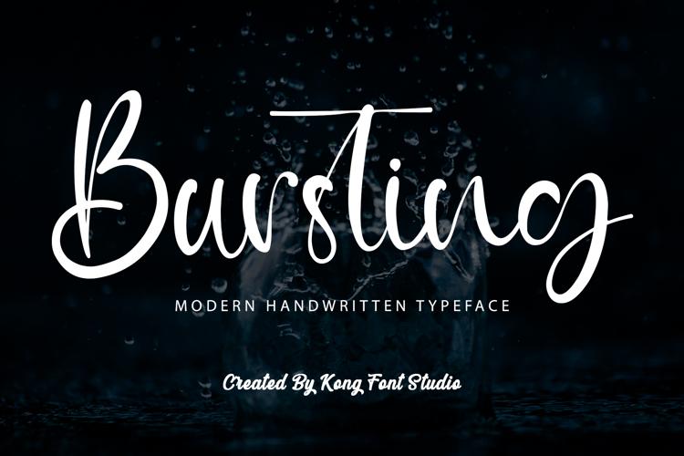 Bursting Font