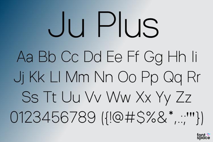 Ju+ Font