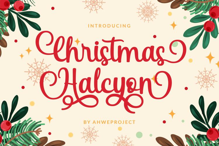 Christmas Halcyon Font
