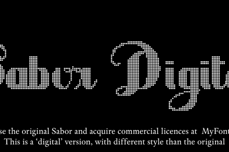 Sabor Digital Font