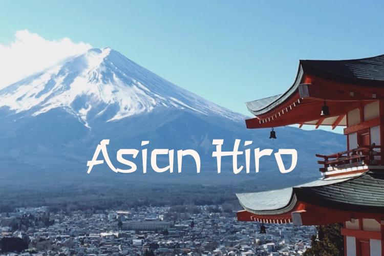 a Asian Hiro Font