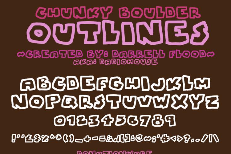 Chunky Boulder Outlines Font