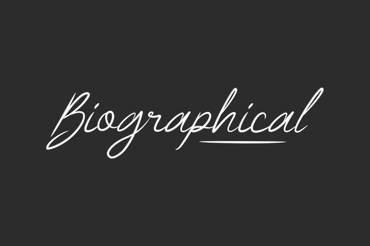 Biographical Font