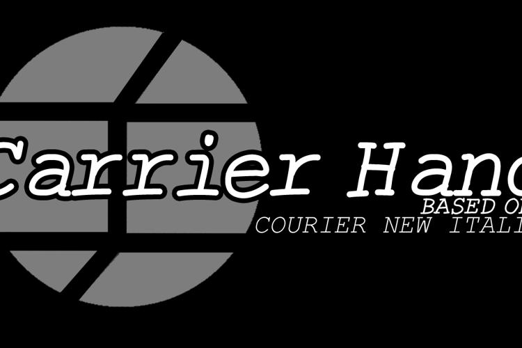 CarrierHand Font
