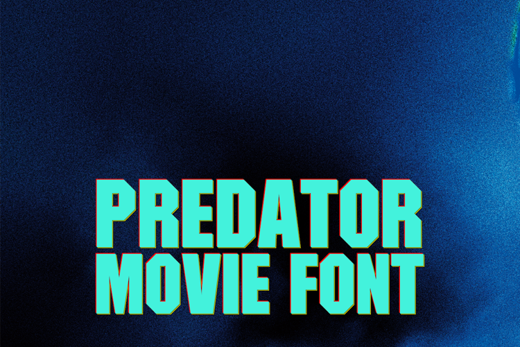 Predator Movie Font