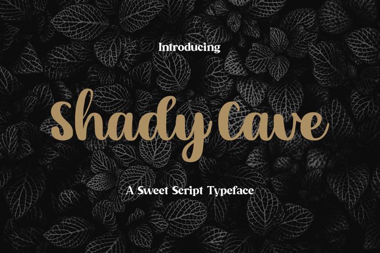 Shady Cave - Script Font