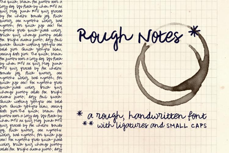 Rough Notes Sample Font