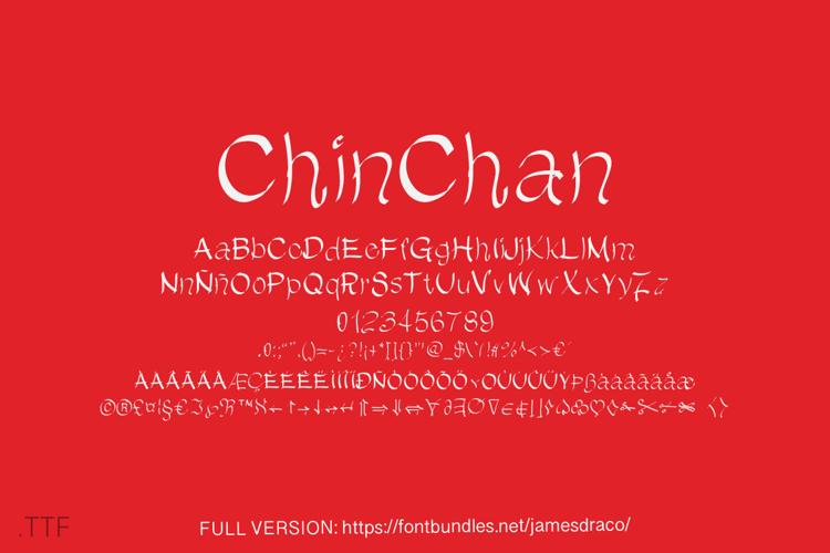 ChinChan DEMO Font
