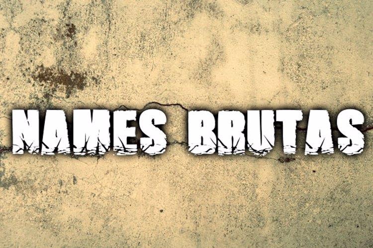 Names Brutas Font