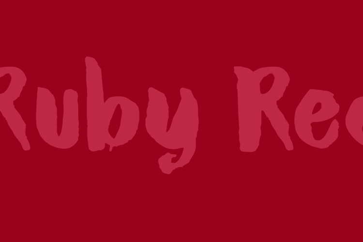 DK Ruby Red Font