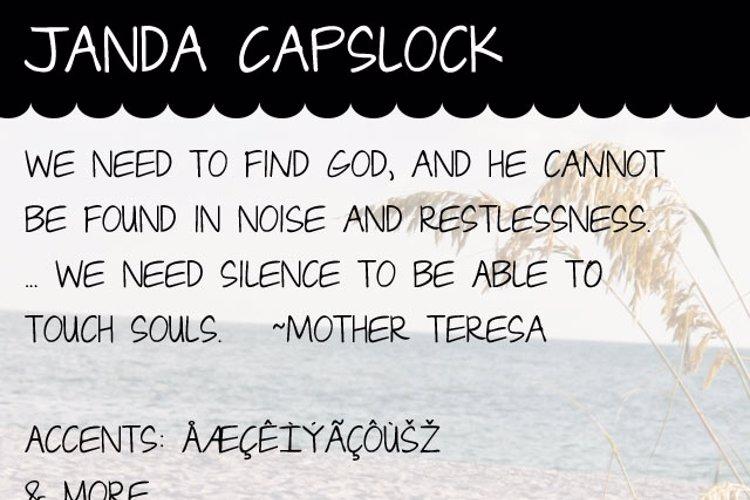 Janda Capslock Font