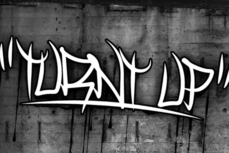 Turnt Up Font