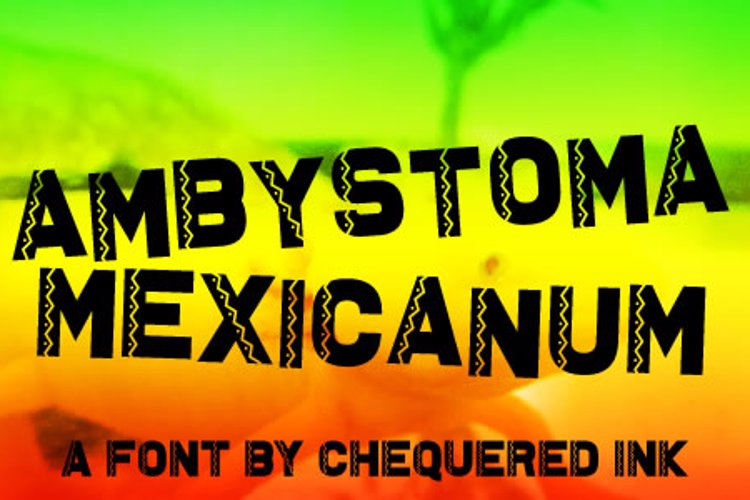 Ambystoma Mexicanum Font