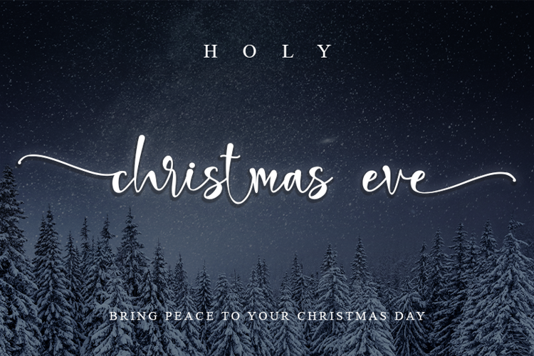 holi christmas eve Font