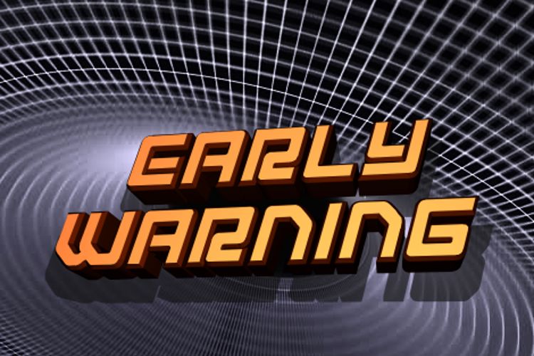 Early Warning Font
