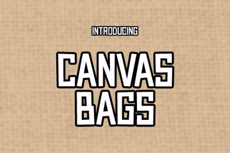 Canvas Bags Font