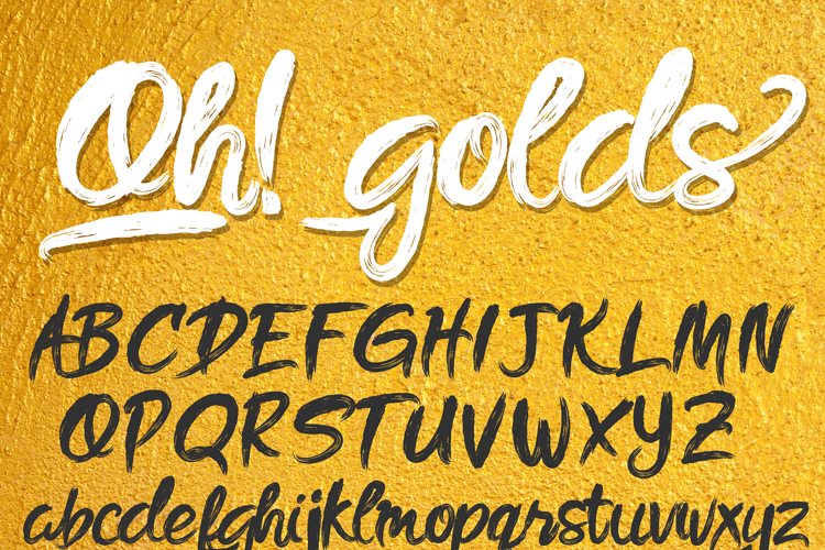 Oh golds DEMO Font