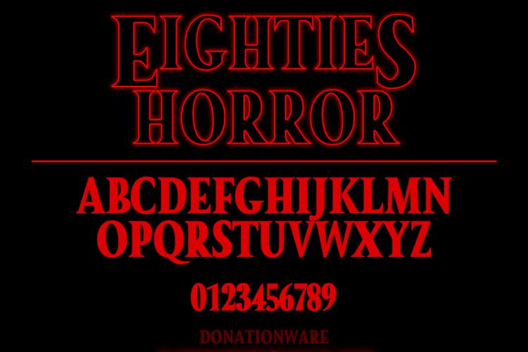 Eighties Horror Font