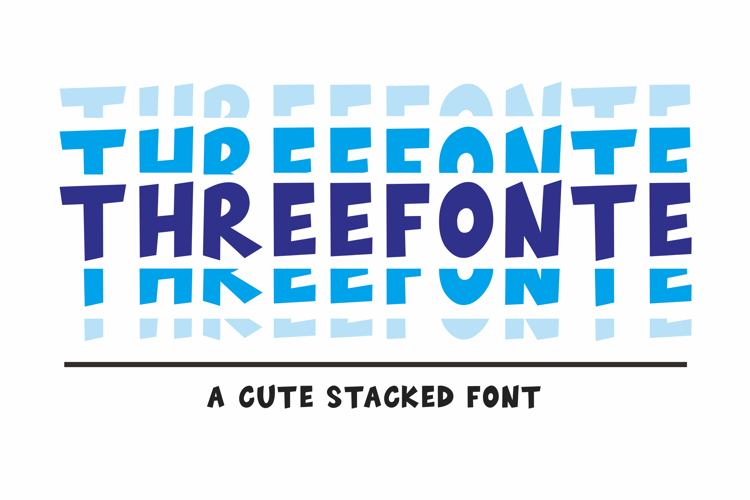 THREEFONTE Font