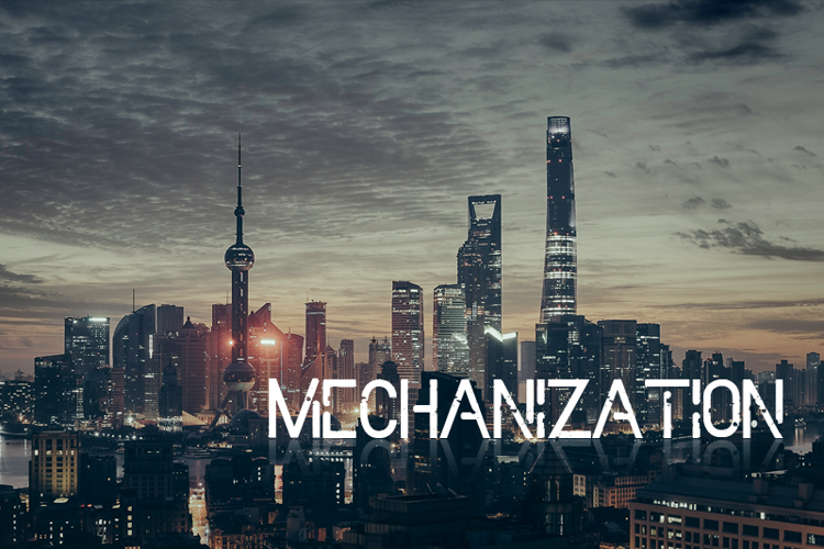 Mechanization Font