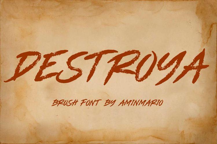 DESTROYA Font