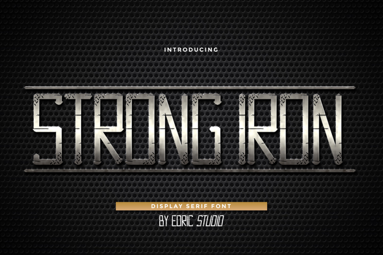 Strong Iron Font