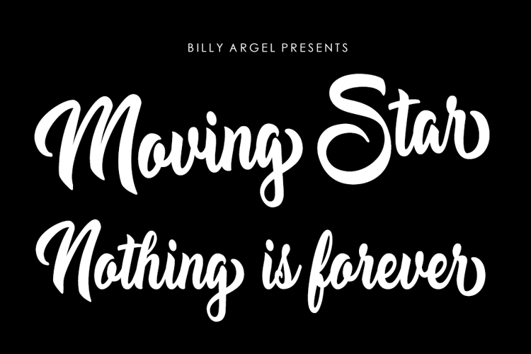 Moving Star Font