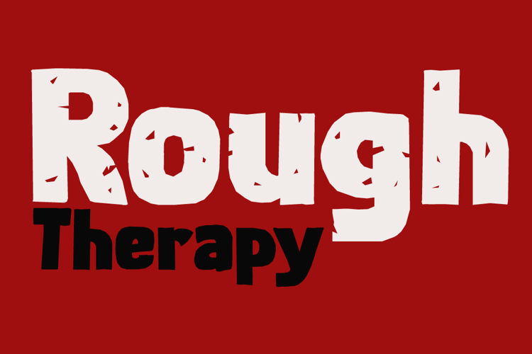 Rough Therapy DEMO Font