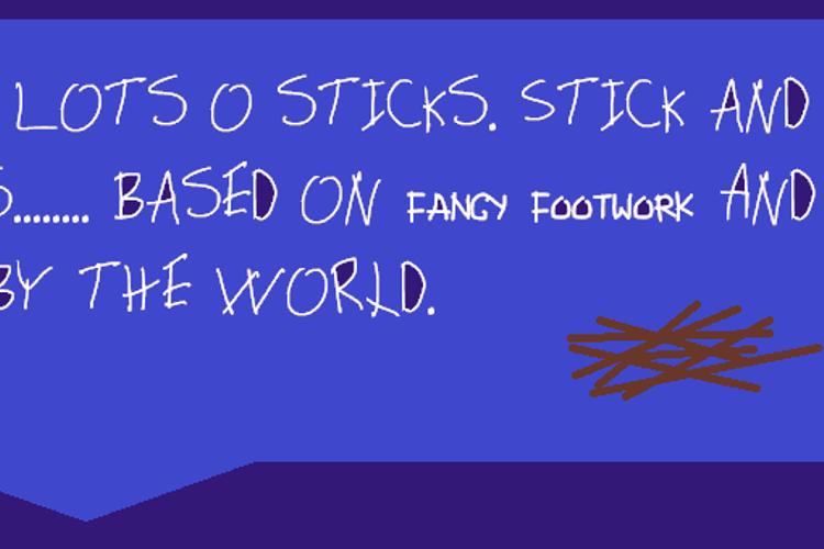 Sticks Font