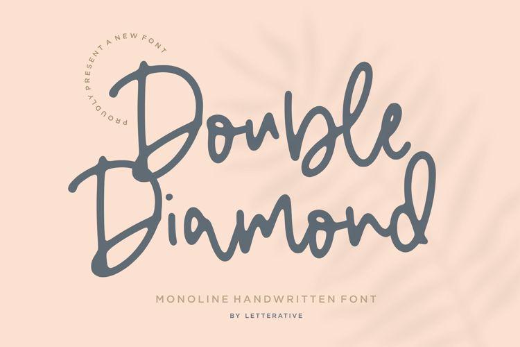 Double Diamond Font