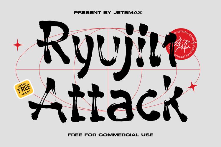 Ryujin Attack Font