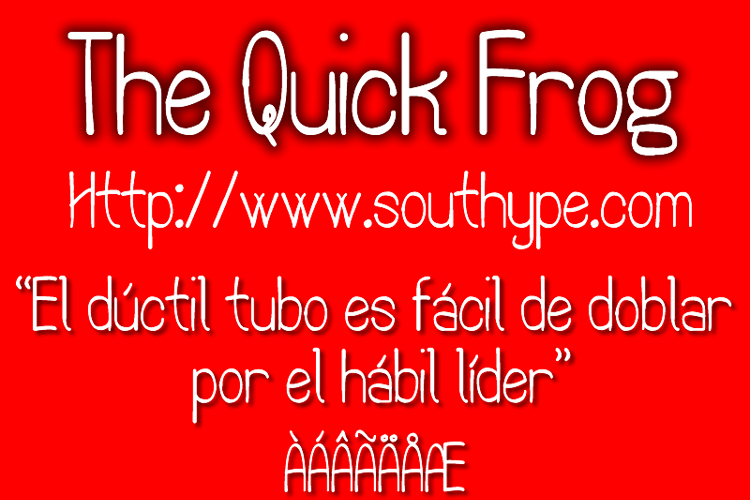 The Quick Frog St Font