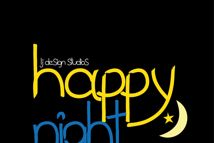 happy night Font