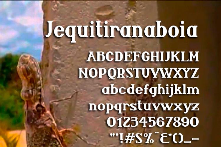 Jequitiranaboia Font