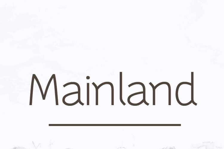 Mainland Font