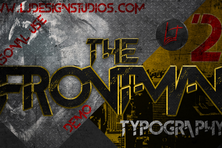 The FrontMan 2 demo Font