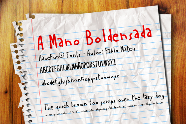 AManoBoldensada Font