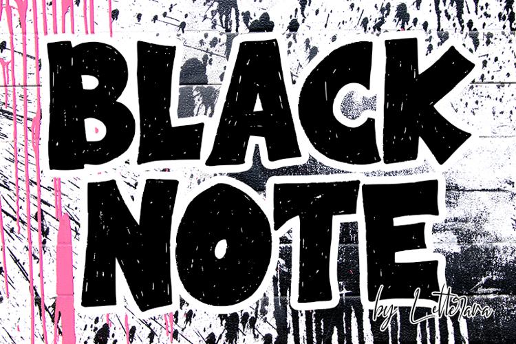 Black Note Font
