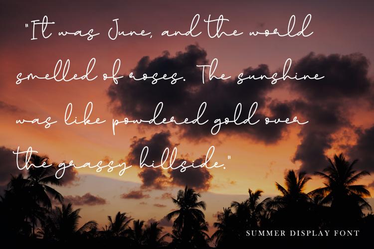 Paradise Sunshine Font