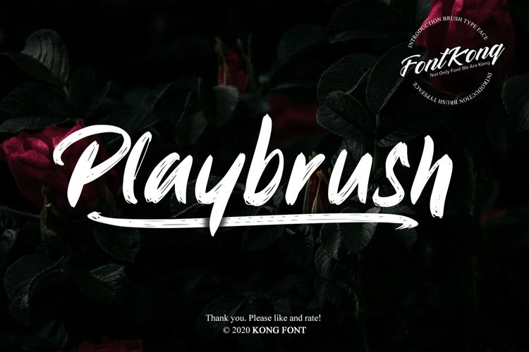 Playbrush Font