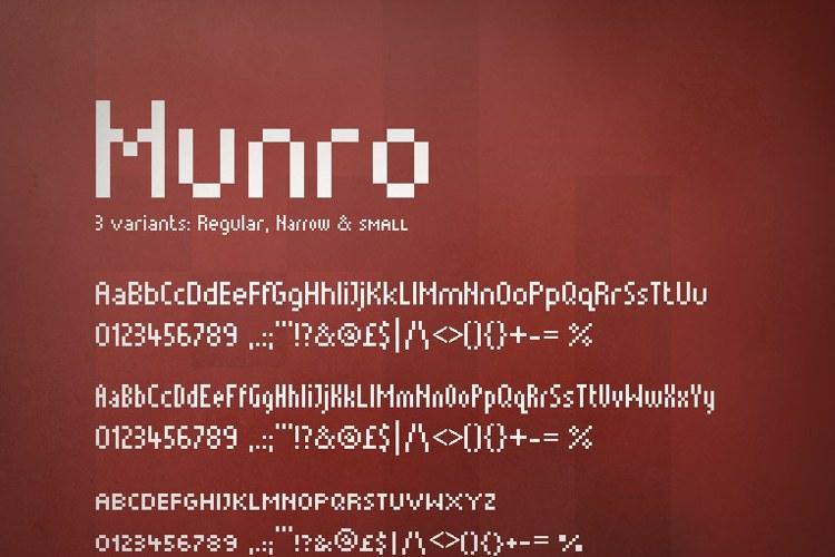 Munro Font