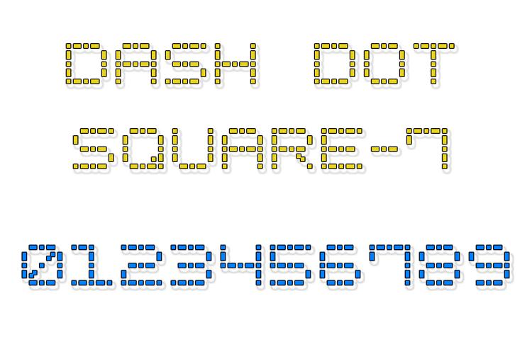 Dash Dot Square-7 Font