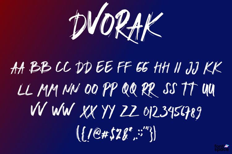 DVORAK Font