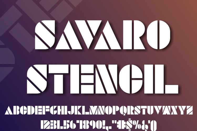 SAVARO STENCIL Font