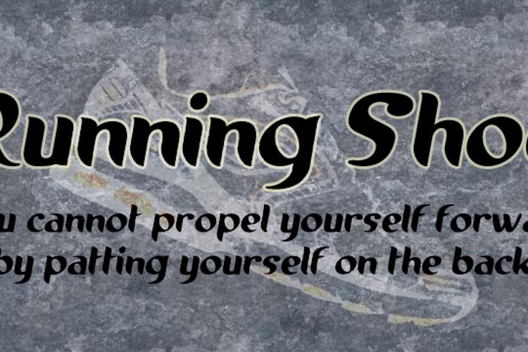 Running shoe Font