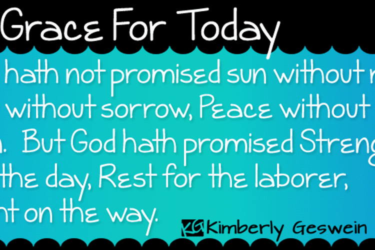 KG Grace For Today Font